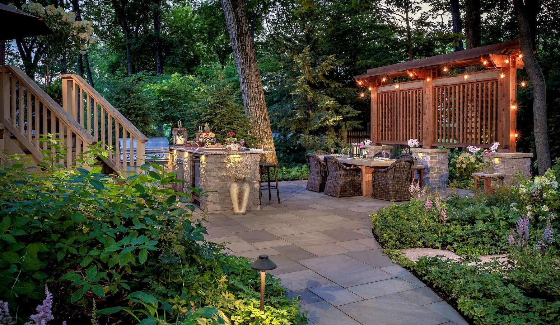 Hardscape and patio lighting