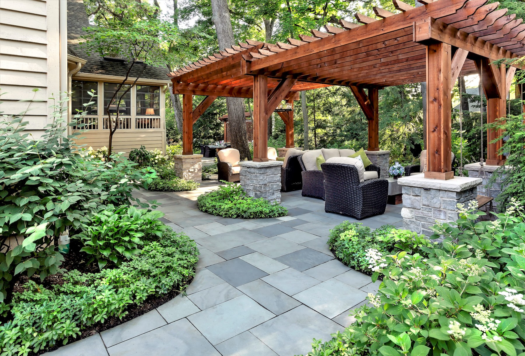 Patio designed and built by KD Landscape