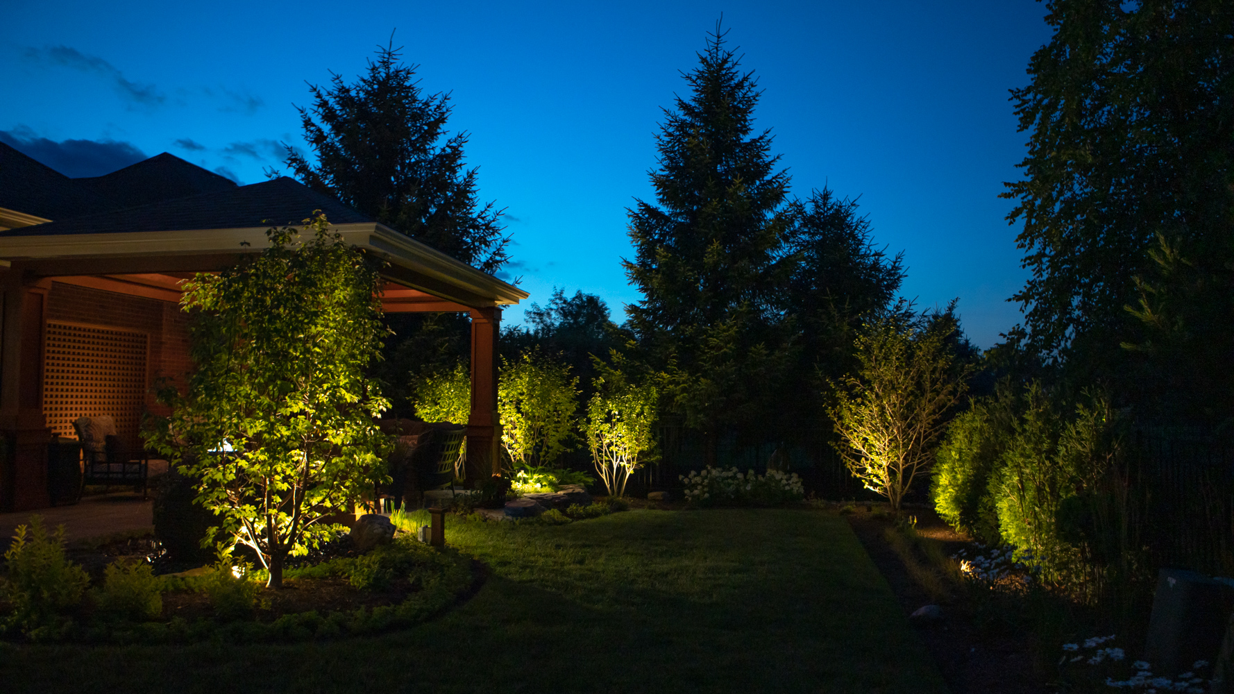 Using lights to accentuate your garden features.