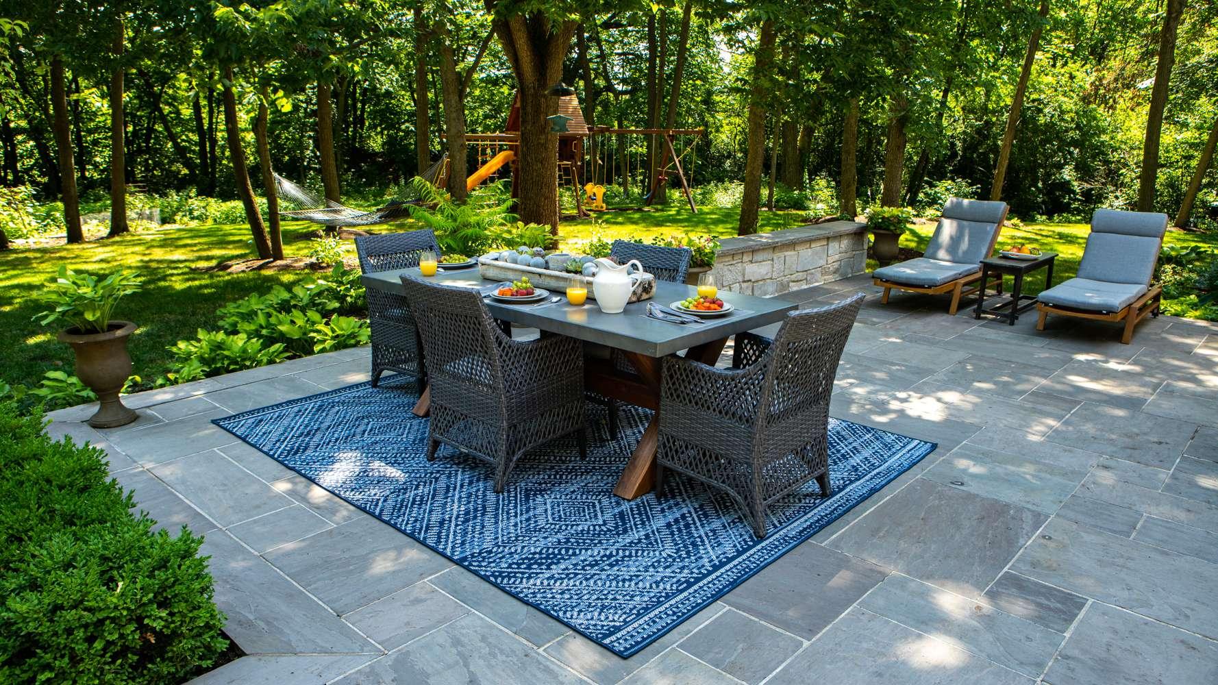 Natural Cleft Blue/Blue Bluestone patio
