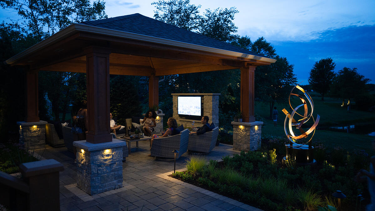 Landscape lighting used to light up your patio at night