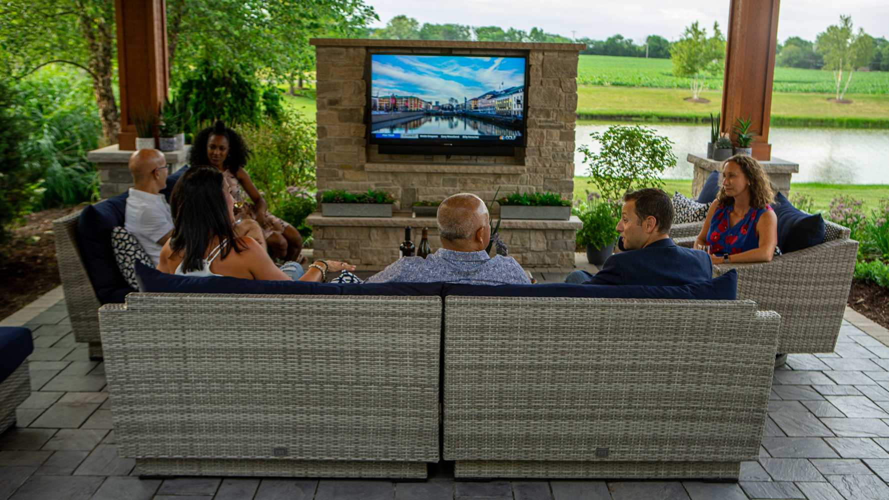 Comfortable patio seating for you and your guests