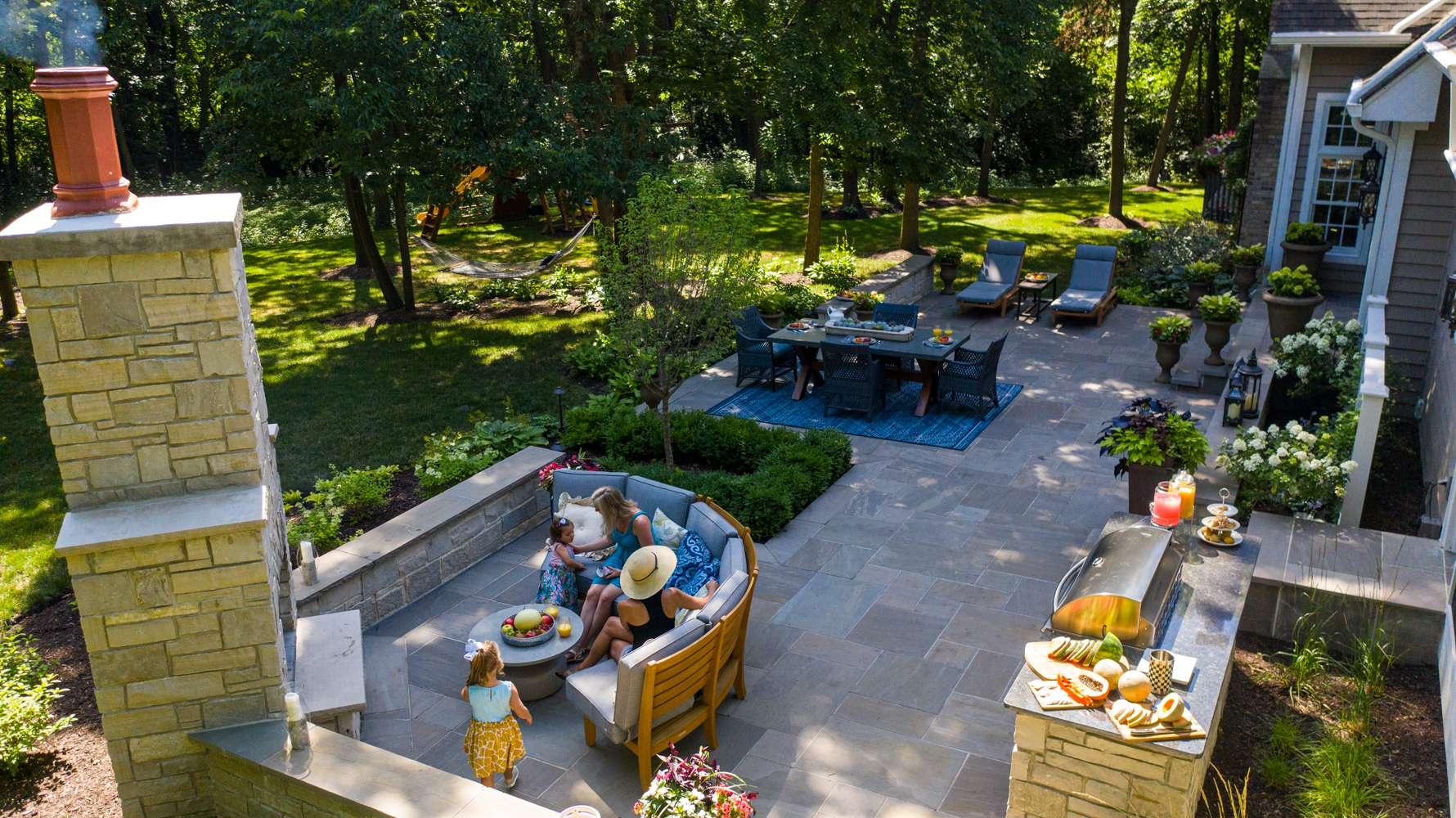 Plainfield, IL Landscape Design Case Study: A Patio & Entertaining Space for a Large Family