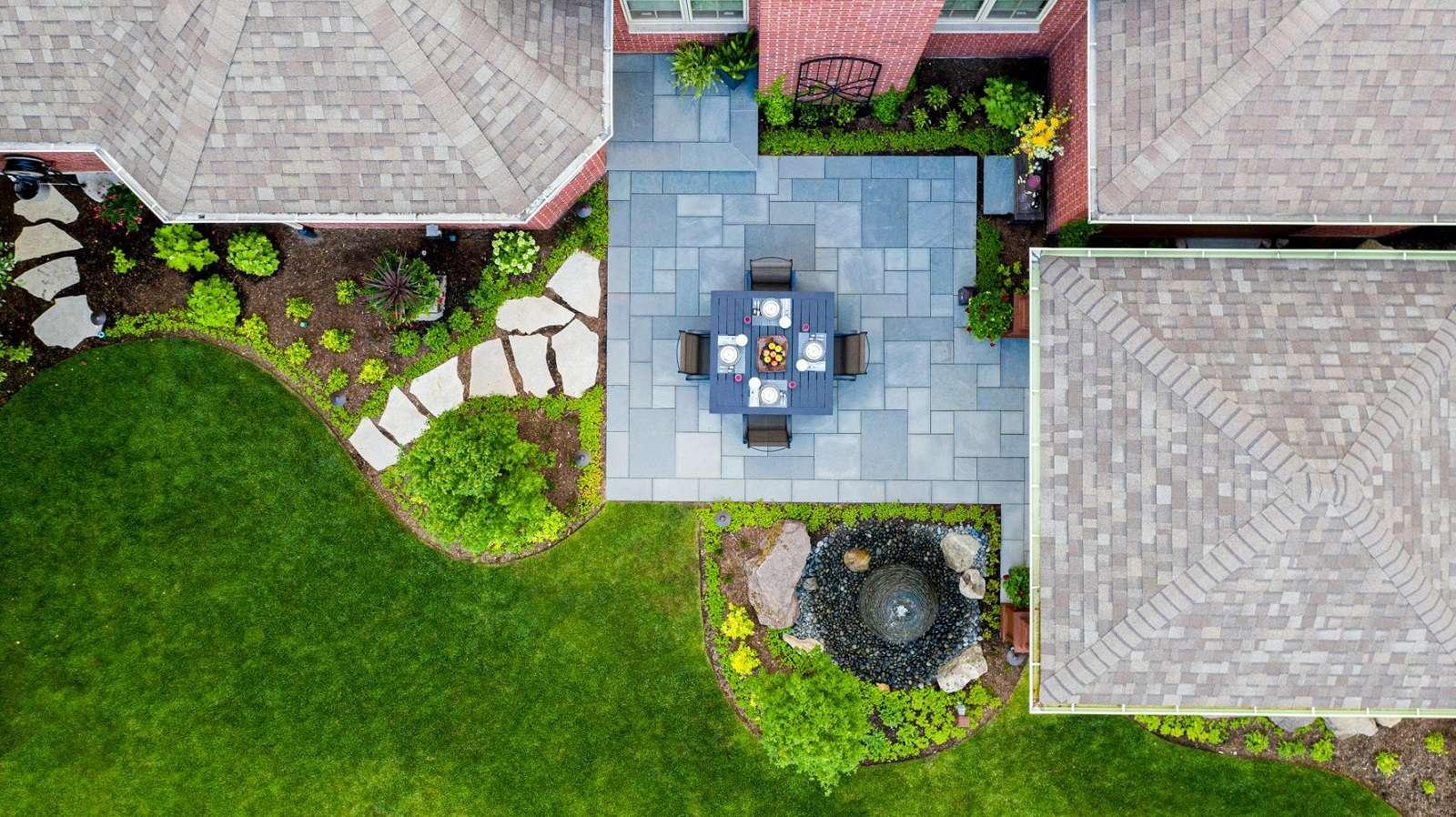 natural stone patio design