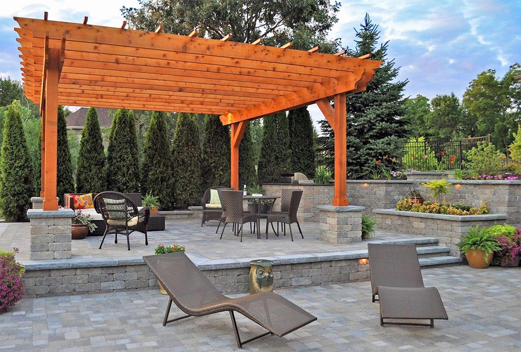 custom brick patio